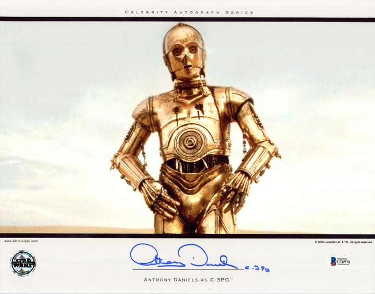 C-3PO Anthony Daniels Star Wars Autogramm Autograph