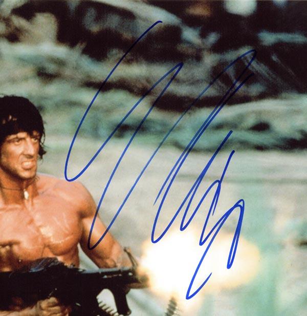 Upclose photo of signature